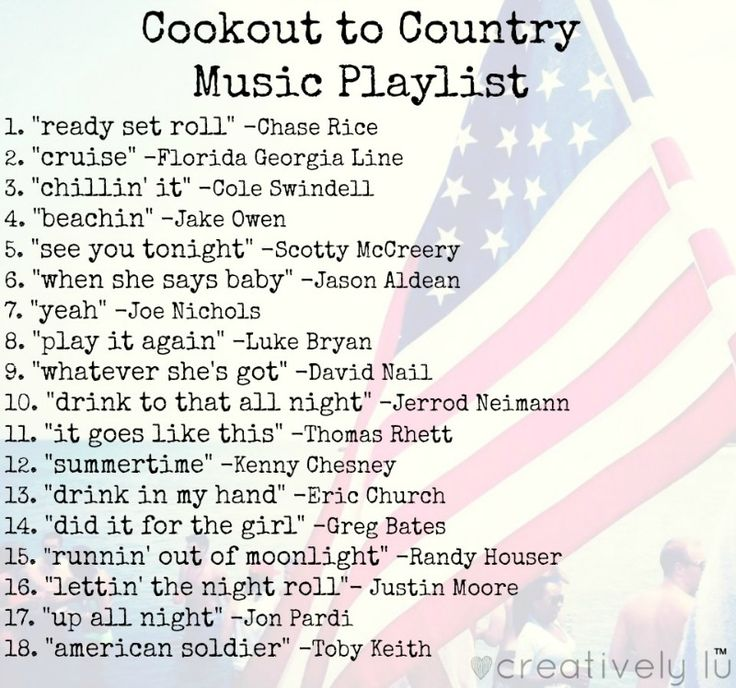 the perfect country music playlist for summer cookouts #summer #musicplaylist #countrysongs