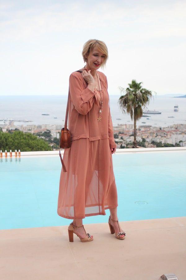 leichtes Sommerkleid, Kleid Sommernachtsparty, Langes Chiffonkleid, L+'Oreal Cannes 2017, elegantes lockeres Keid