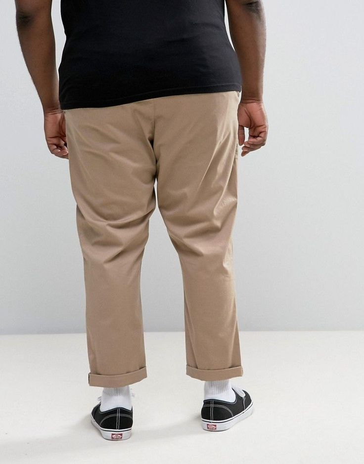 ASOS PLUS Tapered Chinos In Stone - Stone