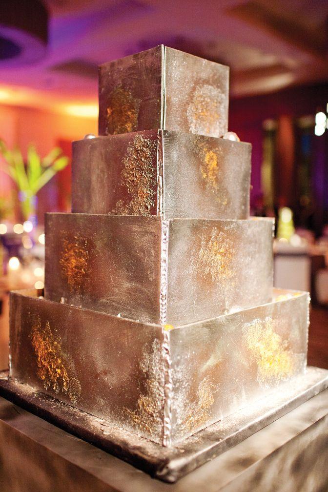 Wedding cake that looks like welded metal robertumbower  I Do  Making a Sustainable Wedding