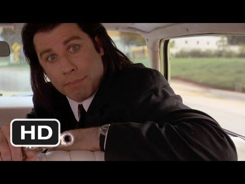 Marvin, Pulp Fiction - (Quentin Tarantino) ~ This  is a great scene where Vincent ( John Travolta ) accidentally shoots passenger Marvin in the face. The window is splattered with blood and Jules ( Samuel L. Jackson ) has pieces of Marvins Skull in his hair. But they handle it so nonchalantly.....