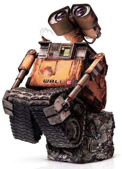 Wall-E... Uno de mis personajes animados favoritos :)