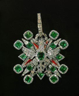 Ordinul Vulturul Alb Polonez cu smaralde şi diamante (1737)