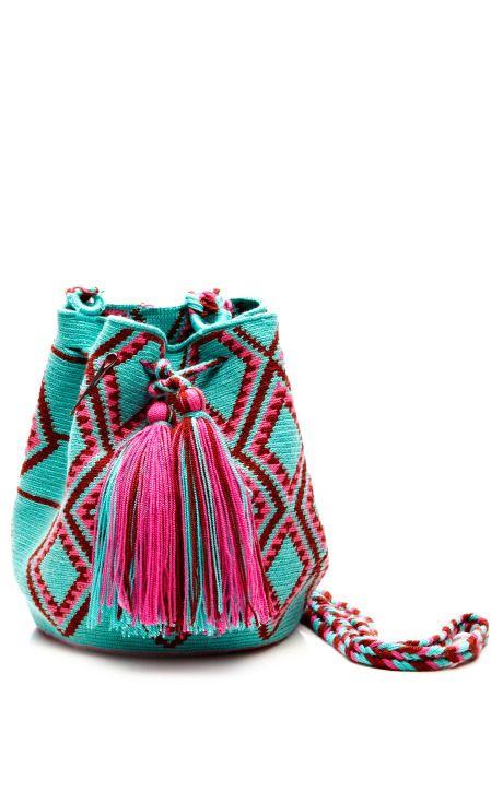 One-Of-A-Kind Handmade Wayu Mini Mochila by Muzungu Sisters Now Available on Moda Operandi