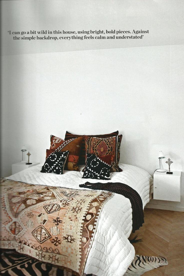 modern ethnic bedroom