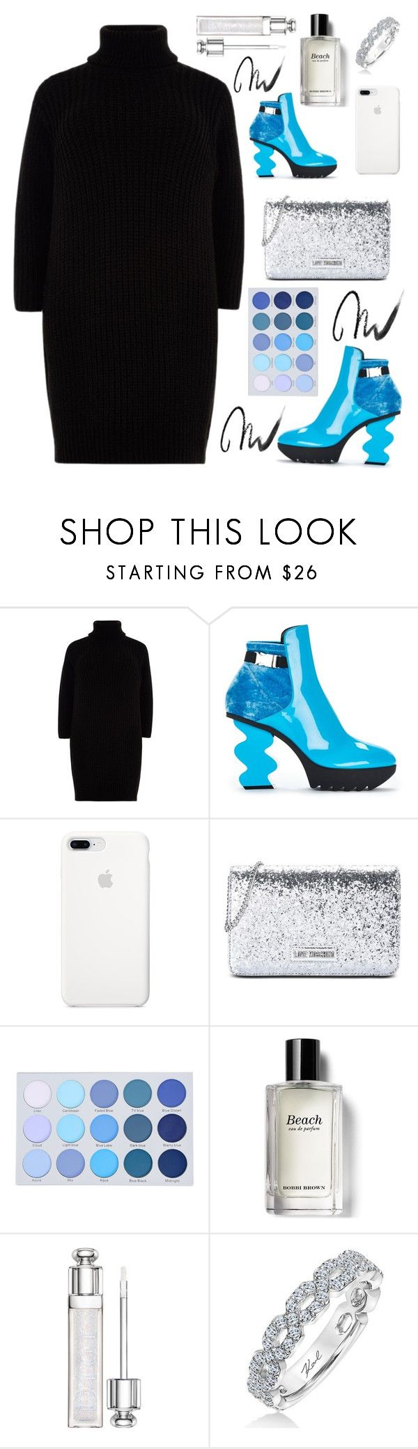 """""""Ankle Boots"""" by heythatsalya ❤ liked on Polyvore featuring River Island, Love Moschino, Bobbi Brown Cosmetics, Karl Lagerfeld and Maybelline"""