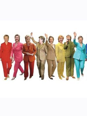 A Rainbow Of Hillary Clinton Pantsuits