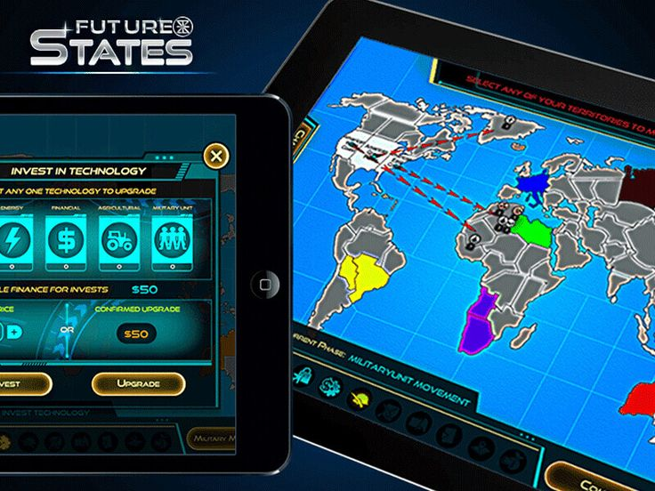 Future states Game - Developed by Juego Studios Brief Description : In the near future, a limited nuclear war in the Middle East and a second Great Depression has traumatized the nations of the world.  Main Features of Game : Strategy online multi-player, Support upto 8 players in a Team, Chat Features, Share your resource with friends, Turn-based & Realtime multi-player, Single & Multi-player, Detailed Game-statstics & Automatic game saving