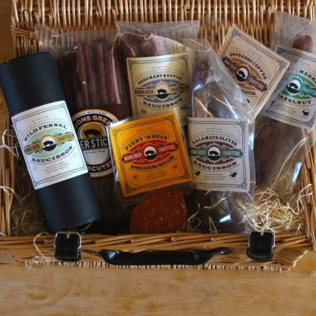 The Moons Green Monster #Charcuterie #Hamper - A meat-lovers dream for #Christmas, a selection of unique hand-cure meats to feast on   Yumbles.com