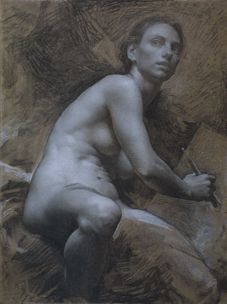 D. Jeffrey Mims ~ Study for Allegory, 2009 (charcoal, chalk)
