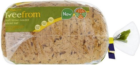 Sainsbury's freefrom Soft Brown Seeded Sliced Bread (400g)