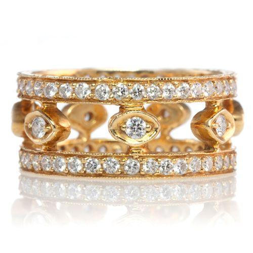Erica Courtney: Emily diamond wedding band