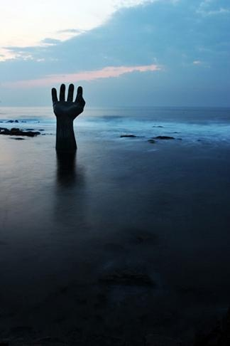 Pohang, the hands of harmony - coolest looking at sunrise (?)