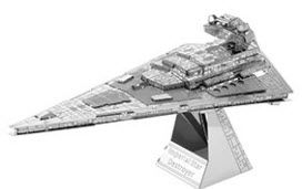 Boldy go to a galaxy far, far away with Star Trek and Star Wars 3D Laser Cut Models. This one is Metal Earth 3D Model Star Wars Star Destroyer