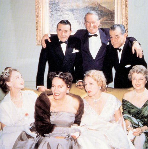 Maurice Chevalier, Ramon Novarro, Lillian Gish, Gloria Swanson, Mary Pickford, and Janet Gaynor