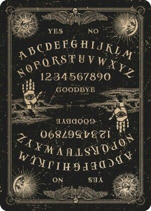 I haven't seen a double-sided Ouija board before.  Very intriguing.