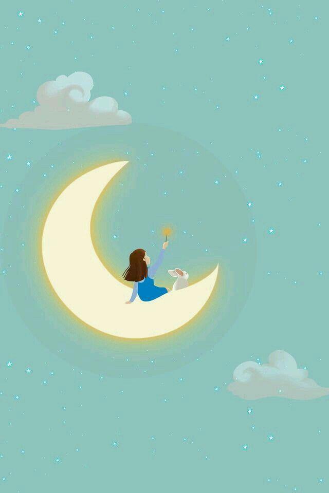 ليلة نوم سعيد احلام قمر Jackie Kennedy Background Cartoon