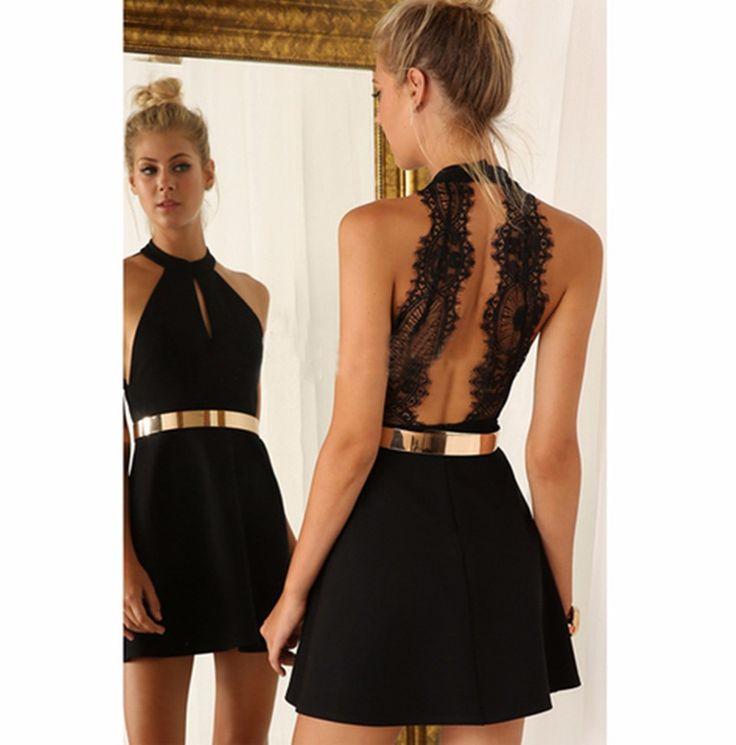 Чёрные платья короткие на выпускной