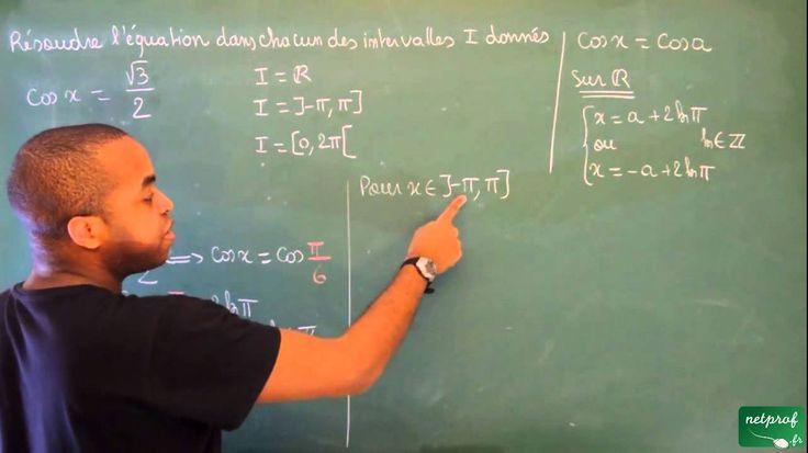 118 / Angles orientés - Trigonométrie / Équations du type cos x = cos a