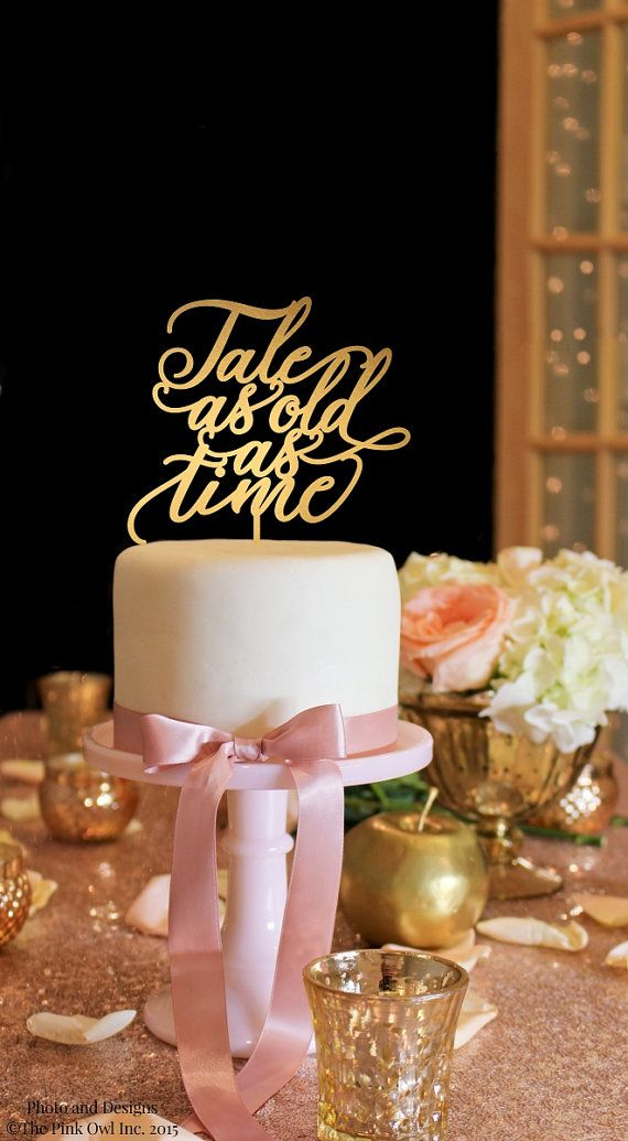 Tale As Old As Time Wedding Cake Topper .:. Lead Time .:. Welcome to The Pink Owl. We love to allow 3-4 weeks production time for your custom