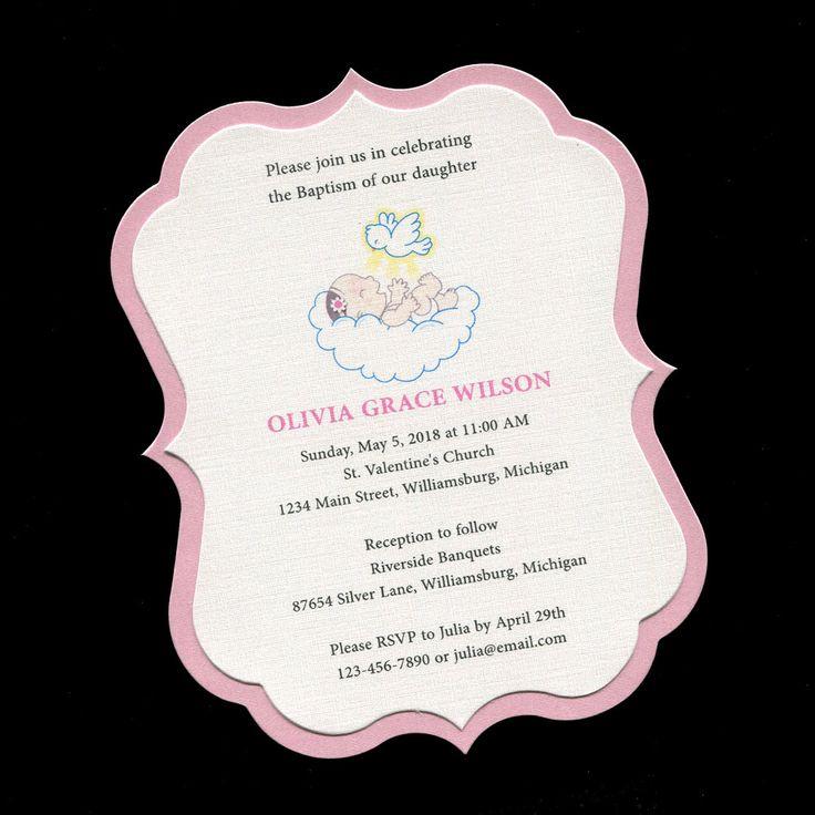 25+ unique Christening invitations girl ideas on Pinterest ...