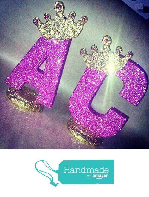 "Royal themed centerpieces for baby shower centerpieces. Glitter crown centerpieces. Prince theme or Princess theme 10"" sparkling letters or numbers! from Glamtastic Designs https://www.amazon.com/dp/B01HAJ9YZK/ref=hnd_sw_r_pi_dp_bLuoybX30T210 #handmadeatamazon"