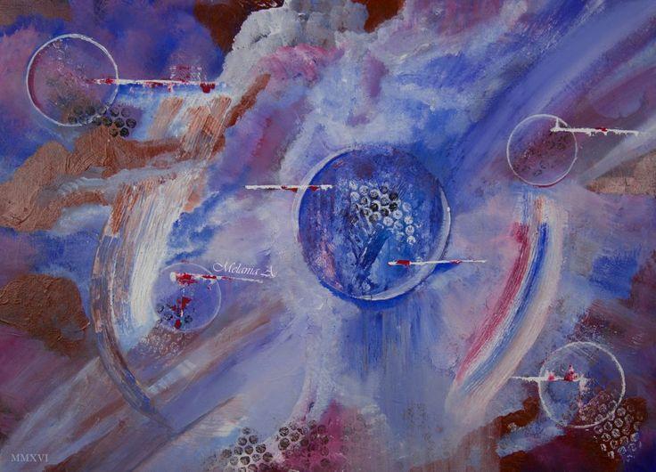 Suflet in sfera – acrilic 70×90 De-ar fi sufletul o sfera, compusa din mii de sfere… ar fi cercuri printre cercuri, sfere printre alte sfere. De-ai privi sufletul scindat cu ochiul ratiunii rece,ai vedea cercuri si cercuri, si iar sfere cuprinse in alte sfere.