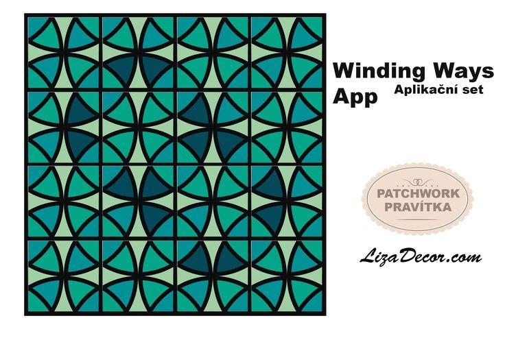 #aplikace #patchwork #vzory #windingways #lizadecor #šablona