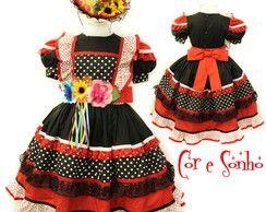 Vestido PROMOÇÃO Quadrilha Festa Junina