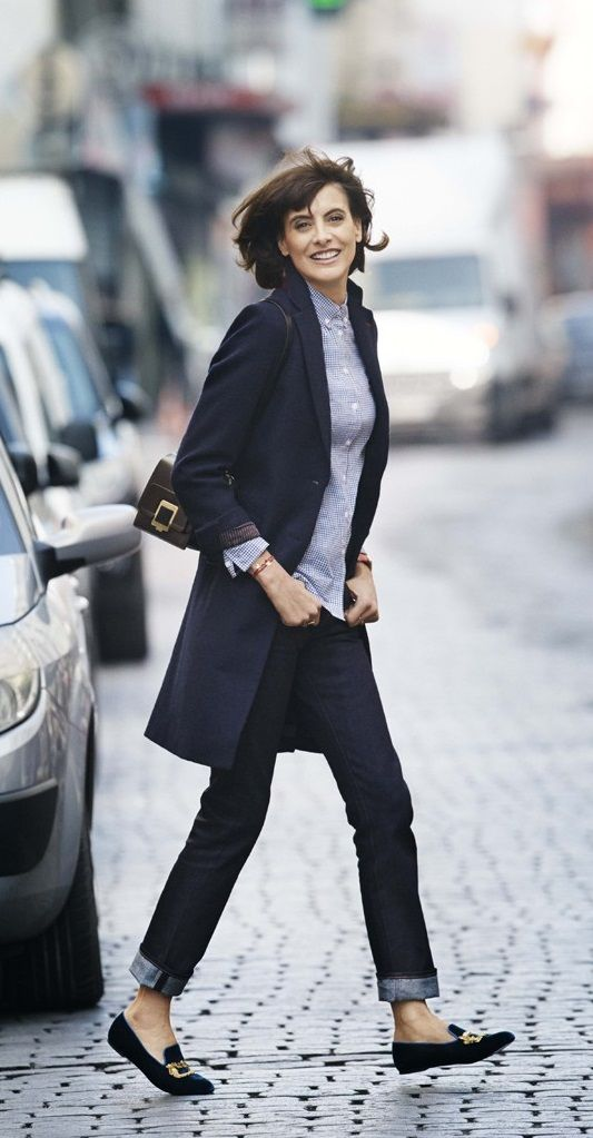 Can a long-waisted pear shape like me carry off a longer jacket like this? I've always loved this look. Ines de le Fressange