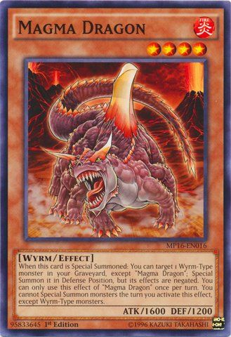 Yu-Gi-Oh! - Magma Dragon (MP16-EN016) - Mega Pack 2016 - 1st Edition - Common ** This is an Amazon Affiliate link. Check out the image by visiting the link.