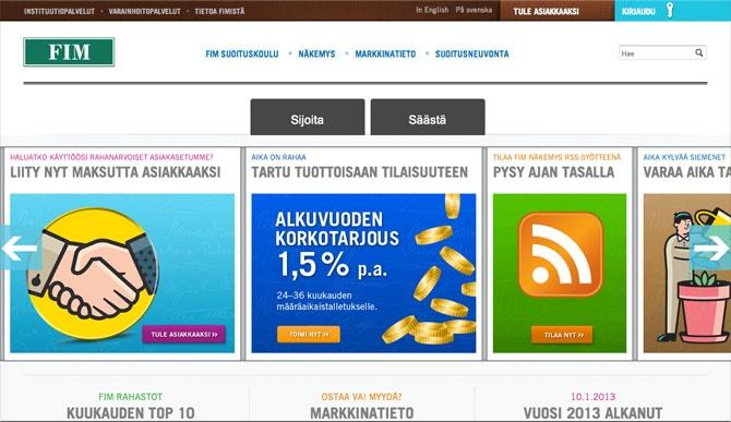 Screenshot of FIM.com