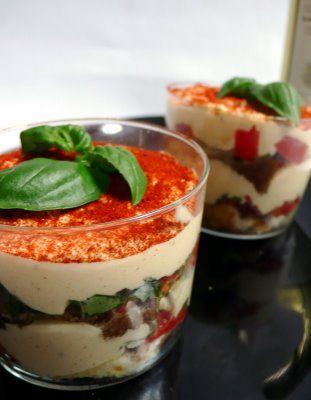 Recette Verrines de tiramisu au parmesan et tomates confites