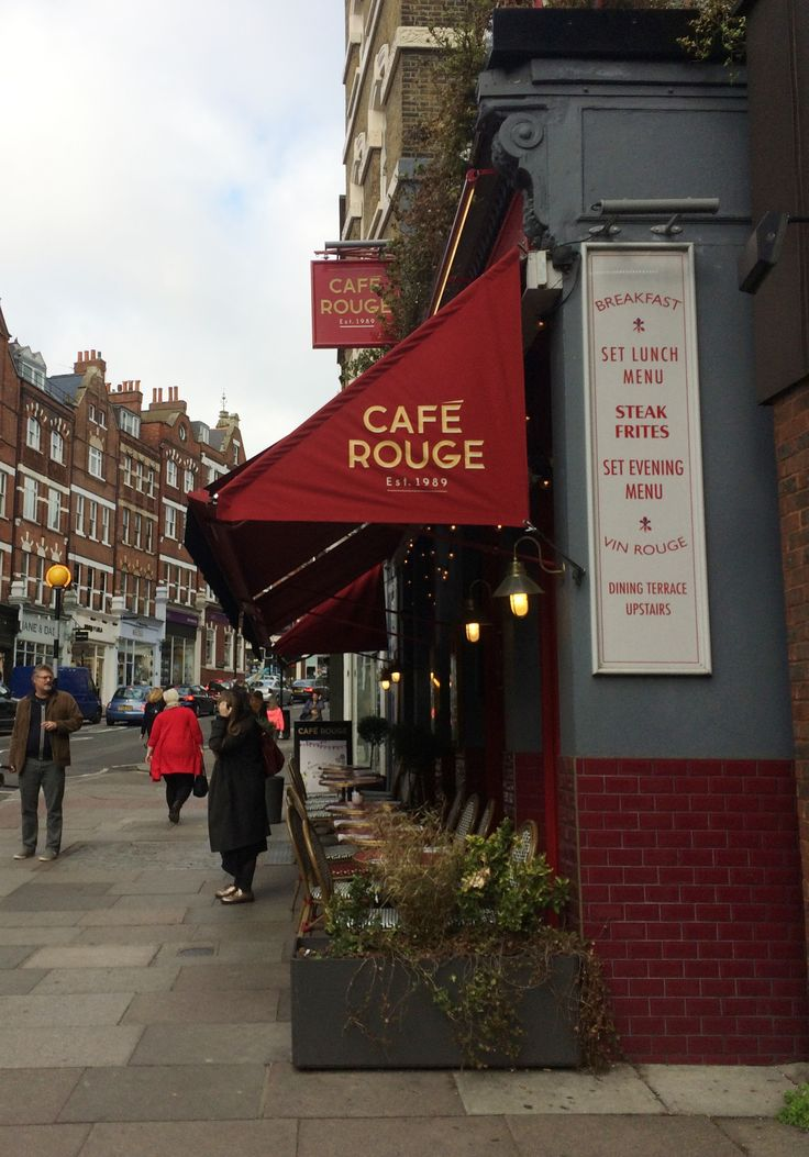 Cafe Rouge, which is pretty much like any other Cafe Rouge, except for its location on Hampstead High Street