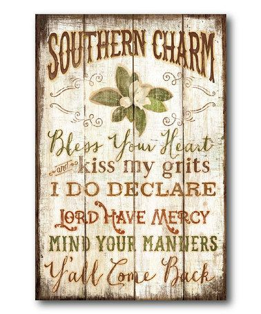 Another great find on #zulily! 'Southern Charm' Wrapped Canvas #zulilyfinds