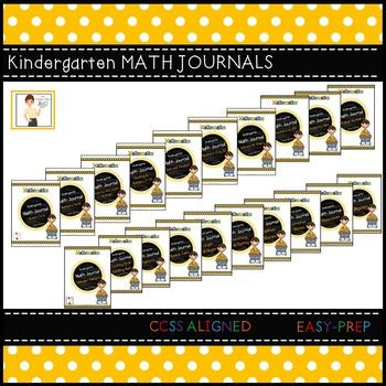 I created math journals for my students because I wanted them to write across the curriculum as much as possible.  These journals have allowed me to do that as well as have some rich student discussions about mathematics in the process.These math journals are designed to be a companion almost any kindergarten math units.