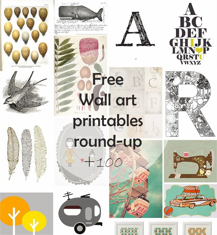 DIY Monday # Free Wall Art printables - Ohoh Blog