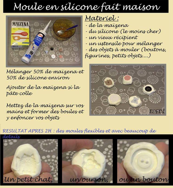 Comment fabriquer soi-même ses propres moules en utilisant du silicone et de la fécule de maïs (Maïzena).  Recette d'un produit similaire à la Siligum, à concocter soi-même à bon marché.
