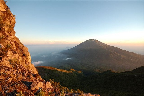Indonesia Mount Merapi. sunrise at mount merapi. amazingly beautiful