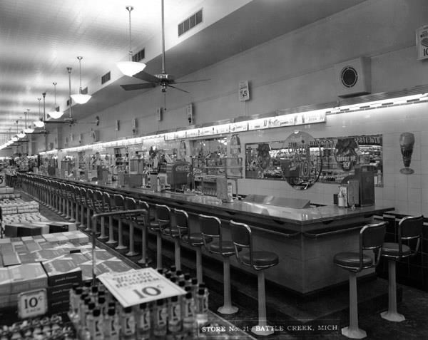 Awesome SS Kresge Store Lunch Counter, Battle Creek MI