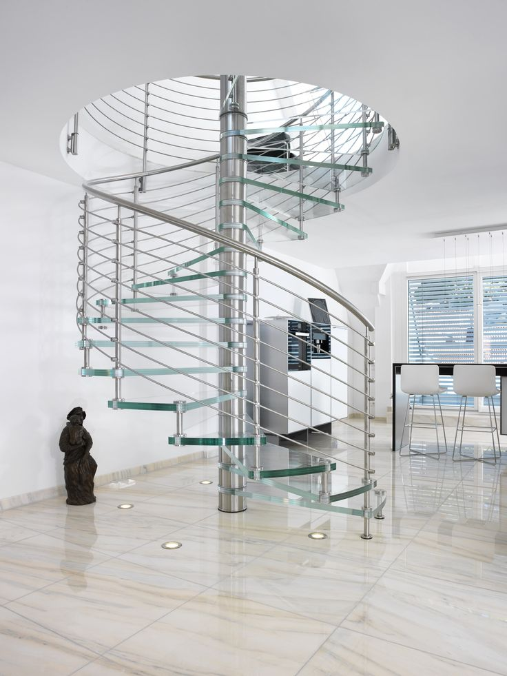 Download the catalogue and request prices of Sciria clarity By siller treppen, glass spiral staircase