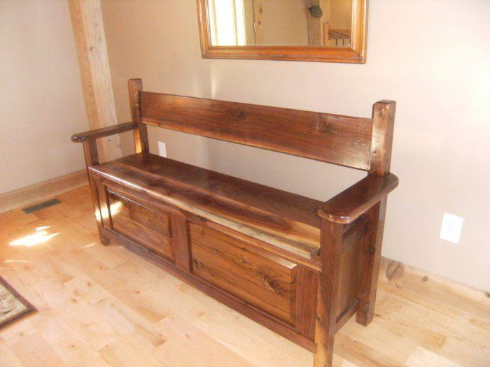 Wooden handmade blanket chest bench beautiful benches for Beautiful wooden benches