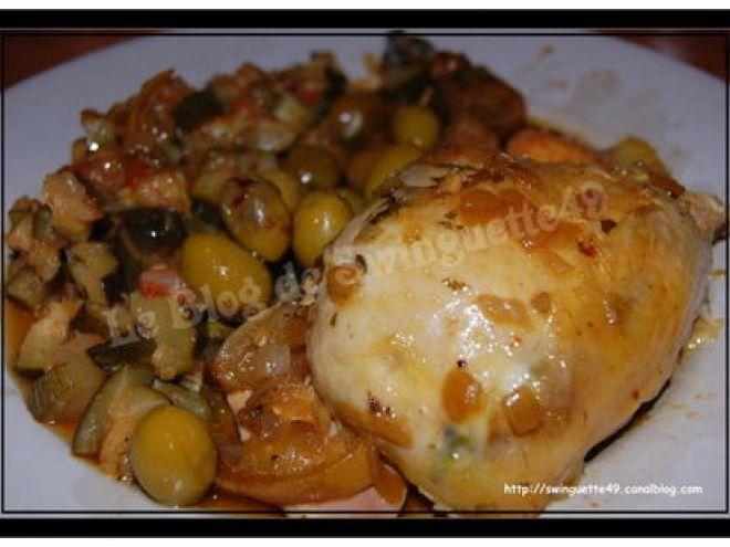 Recette Plat : Poulet à la marocaine aux olives (au crock-pot mijoteuse) par Le…