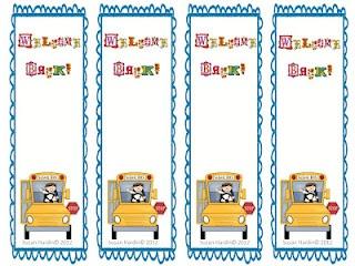 3rd Grade Grapevine: Free Welcome Back to School Bookmarks as seen on Third Grade Troop www.thirdgradetroop.com