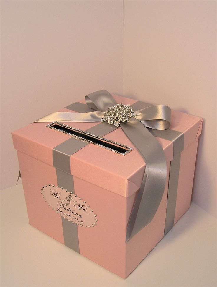 Wedding /Quinceañera/Sweet 16 Card Box,Blush Pink and Gray