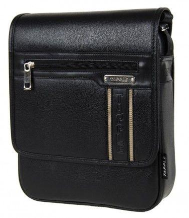 Elegantní větší černá pánská crossbody taška Tapple B3161 - Kliknutím zobrazíte detail obrázku.