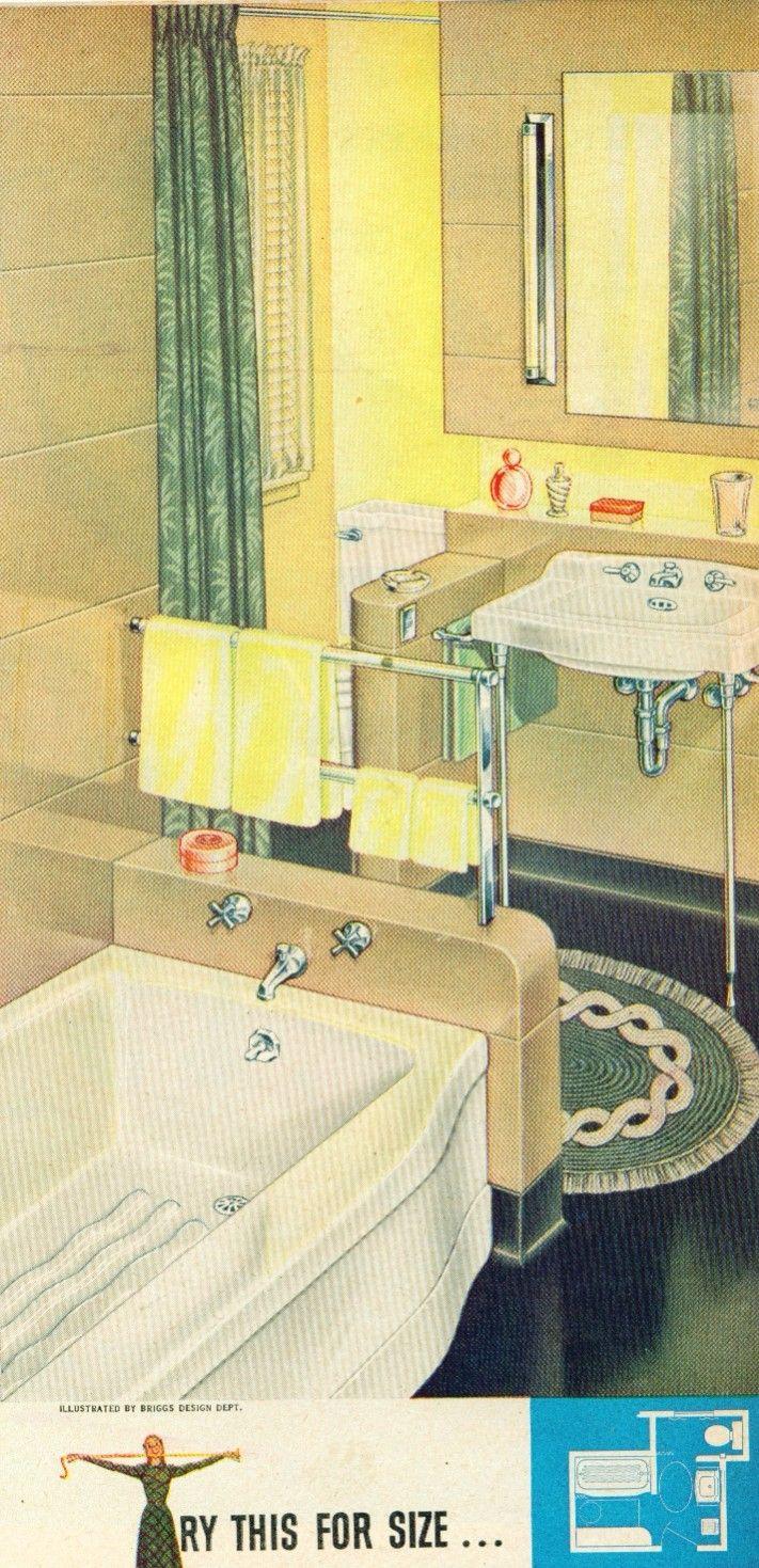 1946 yellow and grey tile bathroom - 1947