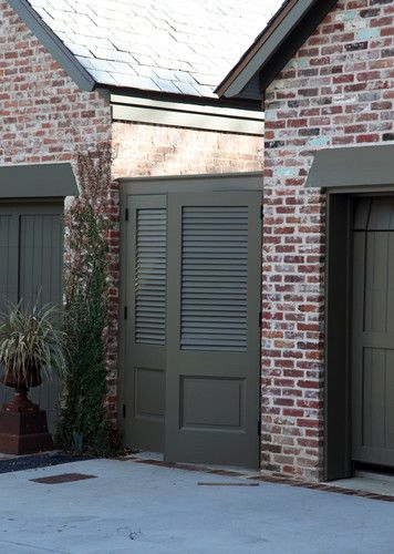 Brick House Colors Design, Pictures, Remodel, Decor and Ideas - Dark gray green