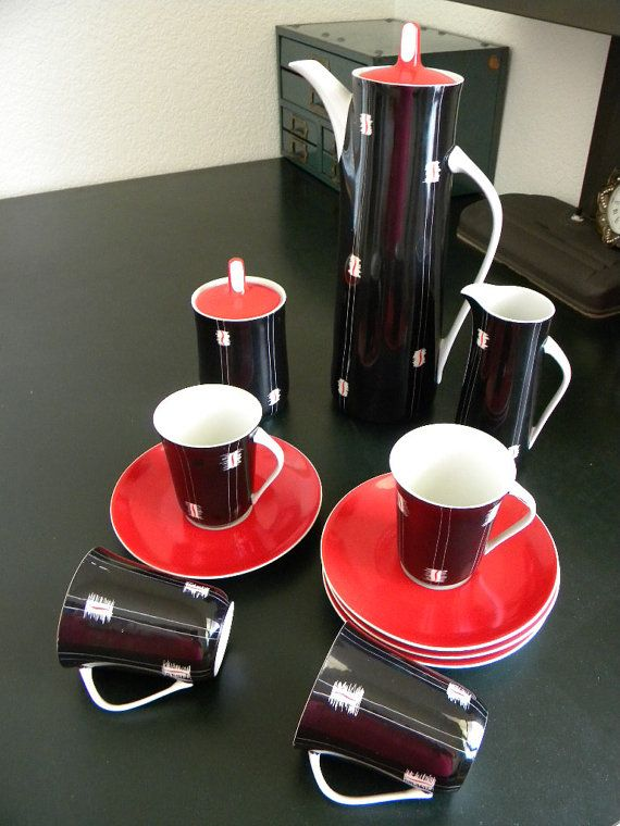 Cmielow Coffee Set by FinallyMine on Etsy, $90.00