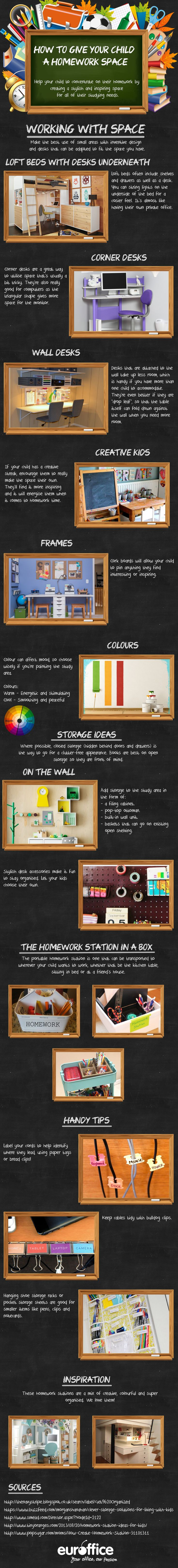 How To Give Your Child A Homework Space #Infographic #Children #Education